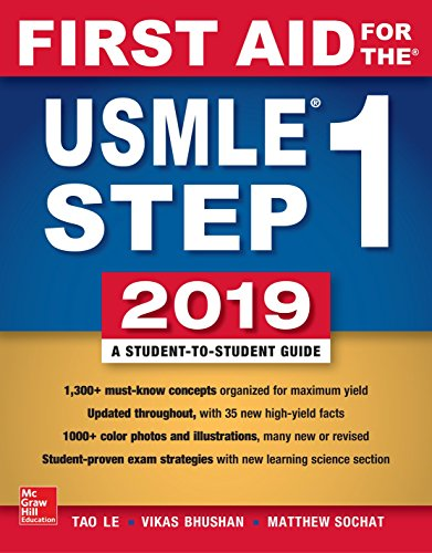 Download First Aid for the USMLE Step 1 2019,  Twenty-ninth edition 1260143678