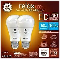 GE照明96685リラックス調光機能付きLEDライト電球、10.5W、800ルーメン
