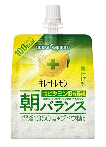 ポッカサッポロ キレートレモン 朝バランスゼリー 180g×6個