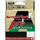 デュエル(DUEL) ライン: ARMORED F+ Pro ロックフィッシュ 150M 1.5号 : ダークブラウン×オレンジマーキング