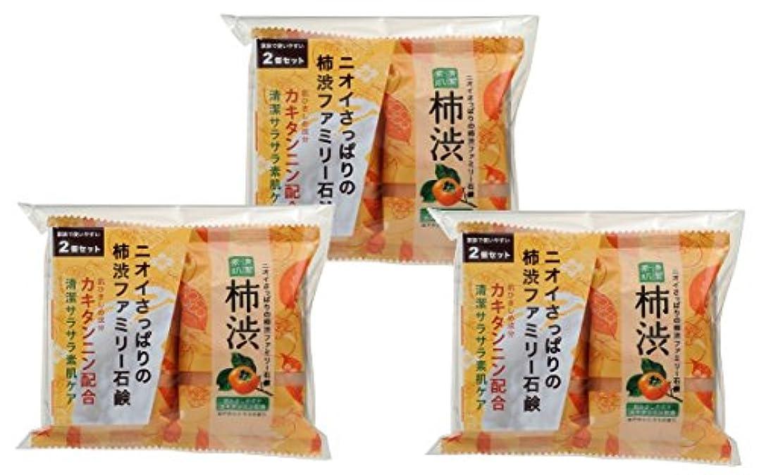 四分円見物人懲らしめペリカン石鹸 ファミリー 柿渋石けん (80g×2個) ×3個パック