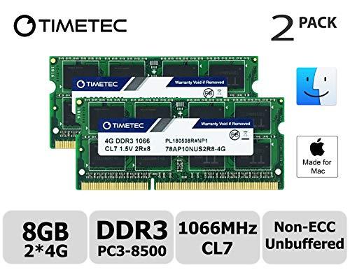 Timetec Hynix IC 8 GB キット (2x4GB) の Mac用 DDR3 PC3-8500 1066 MHz Apple専用増設メモ...