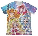 Go!プリンセスプリキュア フルグラフィック Tシャツ ホワイト XLサイズ