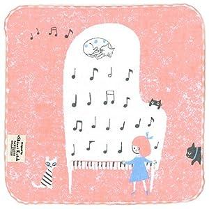 シンジカトウ チアフル音楽会 タオルチーフ 猫とピアノ SKTC128-10