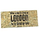KESS InHouse Alison Coxon 'London Type' Map Office Desk Mat, Blotter, Pad, Mousepad, 13 x 22-Inches [並行輸入品]