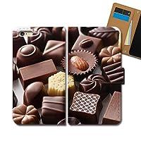 arrows Fit F-01H ケース 手帳型 食べ物 手帳ケース スマホケース カバー スイーツ チョコレート E0331040084202