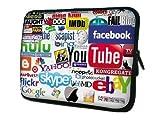 ノートPC Mac タブレット ケース バッグ 防水インナーケース Facebook YouTube YAHOO! Google skypeロゴ (13inch(32.5cm×24.5cm×2cm))
