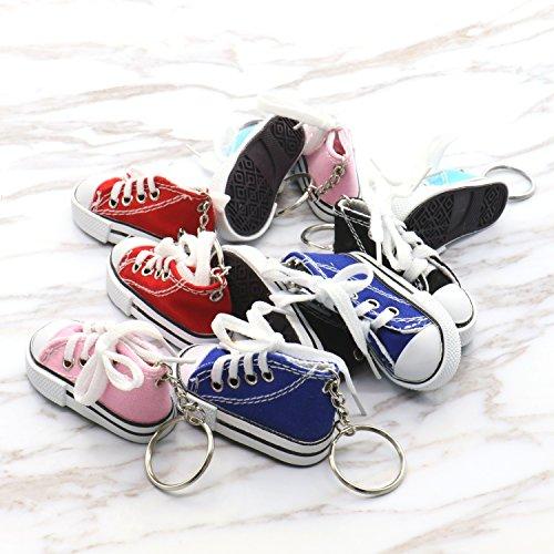 ミニキャンバススニーカーテニス靴Chucksキーチェーン10...