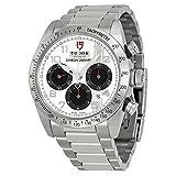 チューダーFastriderホワイトダイヤルクロノグラフステンレススチールMens Watch 42000-wass