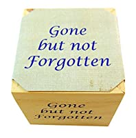 Gone But Not Forgotten Memorial Flower Pot Plant Wooden Cube with Forget Me Not Seeds [並行輸入品]