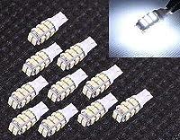 FidgetGear 10×28 LEDホワイトT10ナンバープレートインテリアSMD電球194 168 912 921 W5W