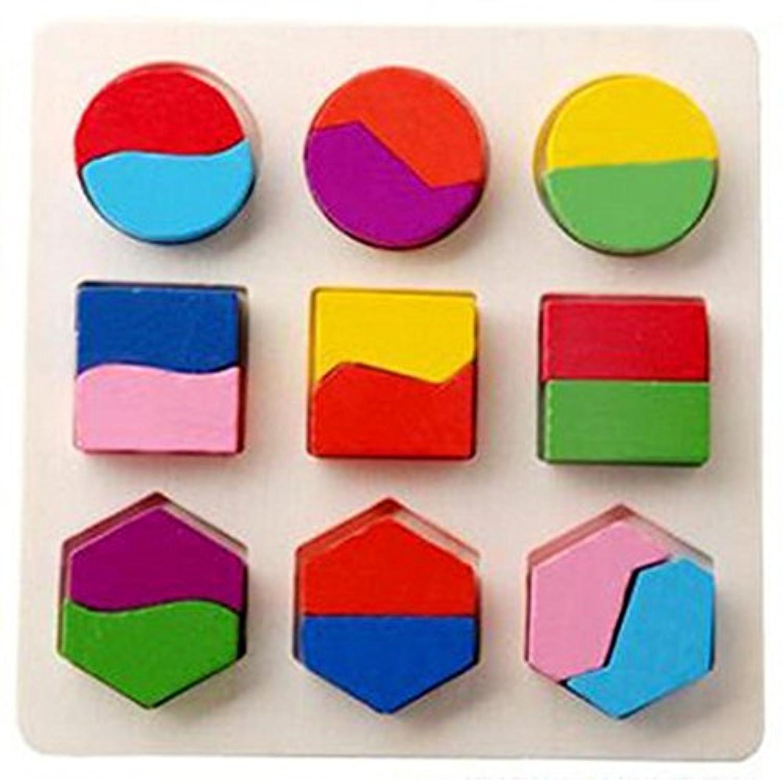 クリスマスギフト、ベビー木製ジオメトリビルディングブロックパズル早期学習教育おもちゃby dacawin Da-001901