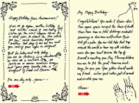 Quiplip Handwritten Yours Truly Birthday Cards 6-Pack (YT02086PCK) [並行輸入品]