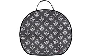 Dilly's Collections Large Round Multi-Purpose Toiletries Travel Makeup Cosmetic Bag - Damask
