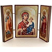 Holy Mother SMOLENSKAYA Saints Pavel Peter RUSSIAN ICON by BuyRussianGifts [並行輸入品]