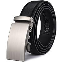 """Men's Belt,Wetoper Slide Ratchet Belt for Men with Genuine Leather 1 3/8,Trim to Fit (Up to 44"""" waist adjustable, Black 15)"""