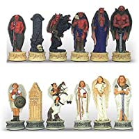 Angels v.s Demons Hand Painted Polystone Chess Pieces