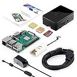 ABOX Raspberry Pi 3 Model b+ ラズベリーパイ 3 b+【2018新型】 MicroSDHCカード32G/カードリーダ /5V/2.5A スイッチ付電源/高品質HDMIケーブルライン/ヒートシンク/簡単に取り付けケース /日本語取扱説明書