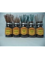 Wildberry Incense Sticks Best Sellerセット# 4 : 10 Sticks各5の香り、合計50 Sticks 。