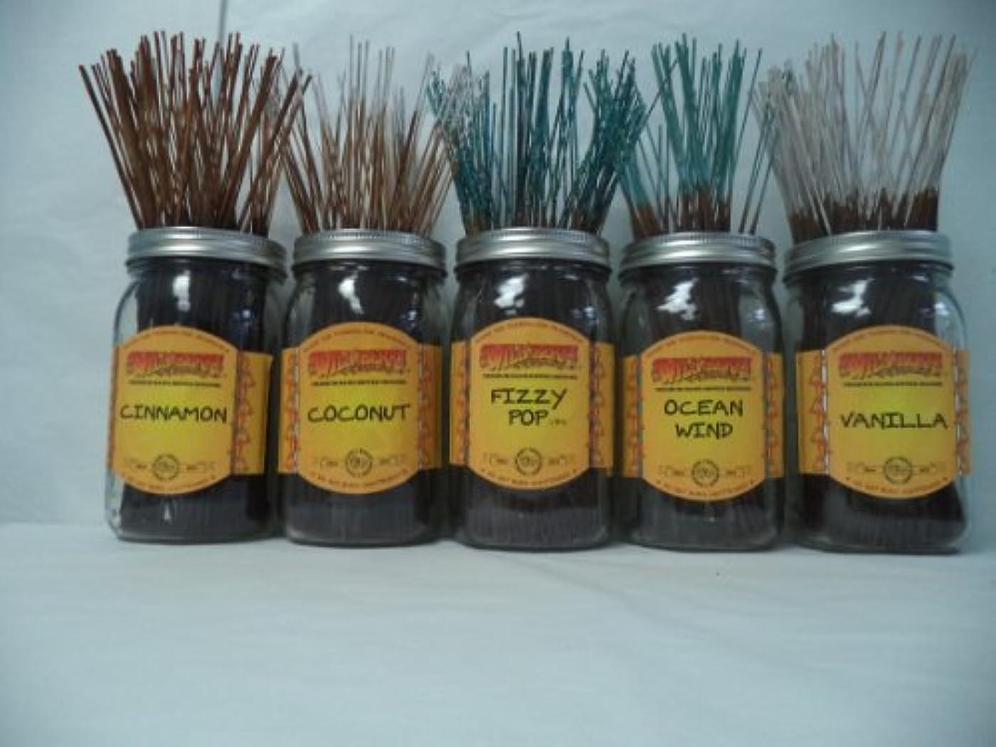 扱いやすい重量完全にWildberry Incense Sticks Best Sellerセット# 4 : 10 Sticks各5の香り、合計50 Sticks 。