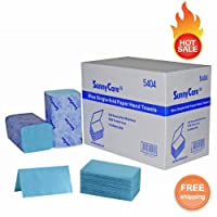 SunnyCare # 54044008/ CSブルーSingle Fold用紙ハンドタオル334/ PK ; 12pks /ケース( C M N ) Bigサイズ