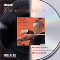 Mozart: The Violin Concertos by GRUMIAUX / LONDON SYM ORCH / DAVIS (2001-04-23)