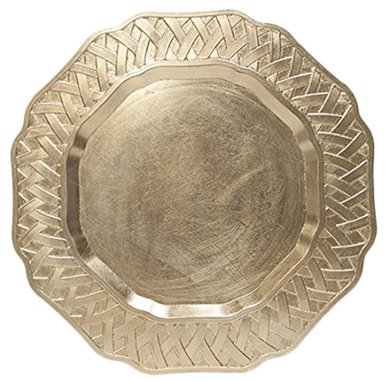 SCHON チャージャーラウンドプレート ゴールド 33cm CH161252G