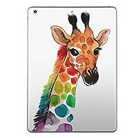 第1世代 iPad Pro 9.7 inch インチ 共通 スキンシール apple アップル アイパッド プロ A1673 A1674 A1675 タブレット tablet シール ステッカー ケース 保護シール 背面 人気 単品 おしゃれ きりん 動物 アニマル 014167