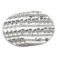 古典的なシート音楽コースターセット