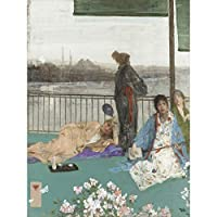 James Mcneill Whistler Variations In Flesh Colour The Balcony Extra Large Wall Art Print Premium Canvas Mural 色壁