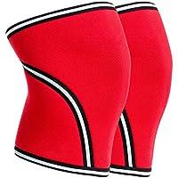 ZSZBACE膝保護具、スポーツ用膝パッド、温かい包帯、走るための滑り止め、運動、関節痛、関節炎および傷害の回復 (レッド, XXL)