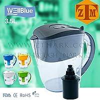 (Black) - Wellblue Alkaline Black Water Filter Pitcher