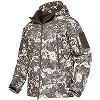 MAGCOMSEN アウター パーカー ミリタリー ジャケット 通気性 大きいサイズ 迷彩服 防水性