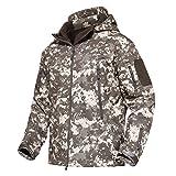 MAGCOMSEN 野外 ジャケット 防寒防風 戦闘服 ウオーキング 上着 迷彩柄 スキーウェア 無地 ACU L
