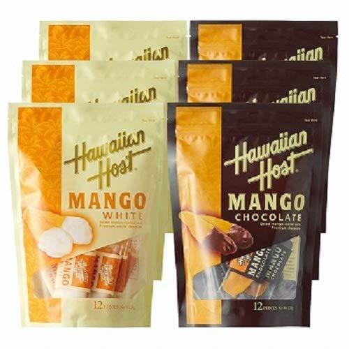 ハワイアンホースト(Hawaiian Host) ドライマンゴーチョコレート ホワイト&ダーク 2 種6袋セット【ハワイ 海外土産 輸入食品 スイーツ】