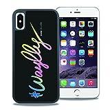 【WAYLLY】iPhone X ケース, [どこでもくっつくケース] [Qi充電対応] [米軍MIL衝撃吸収規格] ウェイリー アイフォン X用 耐衝撃 カバー [iPhone X](COLORFUL LOGO)