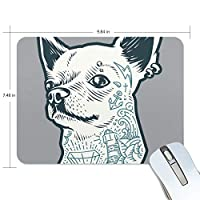マウスパッド 犬 かっこいい 光学式マウス対応 防水 滑り止め生地 ゴム製裏面 軽量 耐久性 携帯便利 ノートパソコン用 オフィス用 快適 プレゼント
