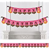 Giraffe Girl - Birthday Party Bunting Banner - Pink Party Decorations - Happy Birthday [並行輸入品]