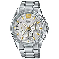 Casio Enticer Analog chrongraph Silver Dial Watch - MTP-E305D-7A