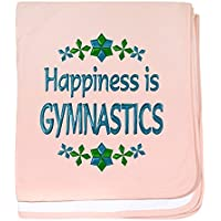 CafePress – Happiness体操 – スーパーソフトベビー毛布、新生児おくるみ ピンク 05454115106832E