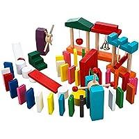 ドミノ倒し 100個 ギミック 10個 付き セット おもちゃ ピタゴラ 子供 知育玩具