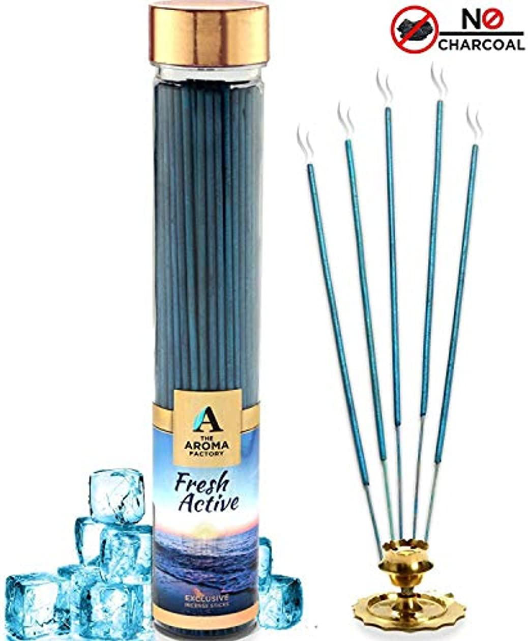 援助する黄ばむ遅らせるThe Aroma Factory Fresh Active Incense Sticks Agarbatti (Bottle Pack of 100)