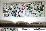 ファブリックパネル アリス boras DORIS ドリス 140×43×3cm グリーン ボラス インテリア ボード パネル 花柄 植物 同梱可