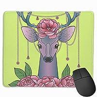 鹿と マウスパッド 25×30 大判 ノンスリップ 防水 ゲーミング おしゃれ マウスの精密度を上がる
