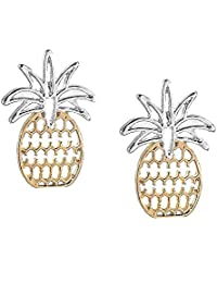 Pineapple Earrings for Women Tropical Fruit Jewelry Hawaiian Vacation Beach Party Daily Earrings Gift
