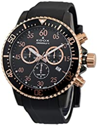 [エドックス]EDOX メンズ クロノラリーS クロノグラフ ローズゴールド ブラック ラバー 10227-357RNCA-NBR 腕時計 [並行輸入品]