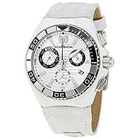 [テクノマリーン] TechnoMarine 腕時計 Men's White Silicone Band Steel Case Quartz Silver-Tone Dial Watch 日本製クォーツ TM-115164 メンズ 【並行輸入品】