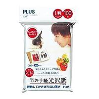 プラス インクジェット用紙 お手軽光沢紙 L判 100枚入 IT-100L-GE 46-057