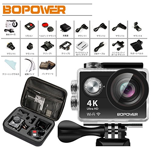 4K アクションカメラ Bopower 60fps WIFI...
