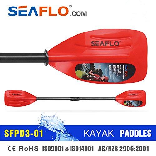 [해외]SEAFLO 어린 이용 PVC 샤프트 카약 패들 더블 블레이드 127 cm (빨간색)/SEAFLO PVC Shaft for Kids Kayak Paddle Double Blade 127 cm (Red)